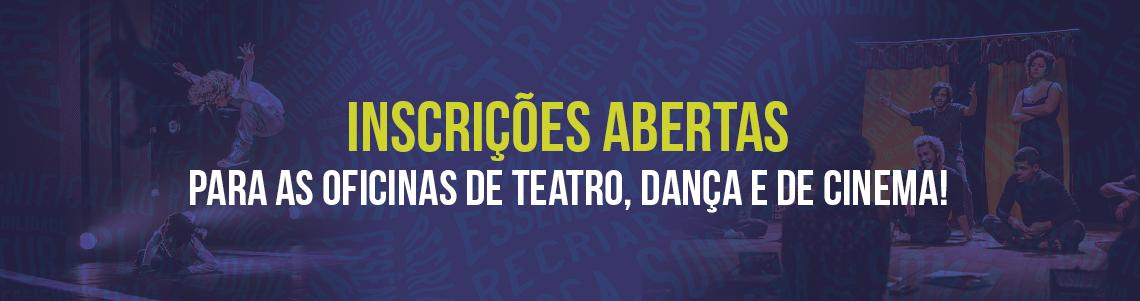 Oficinas de dança teatro e cinema